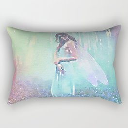 Fairy Blue Rectangular Pillow
