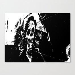 Laneway Skull Canvas Print
