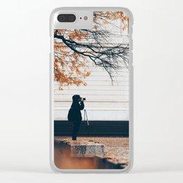 Autumn Photographer Clear iPhone Case