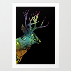Space Deer Art Print