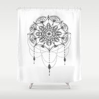 dreamcatcher Shower Curtains featuring Dreamcatcher by Erzaguri