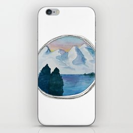 Spanish Snowy Mountains over the River iPhone Skin