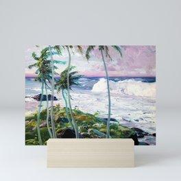 Vintage Tropical Palm Tree Art Mini Art Print