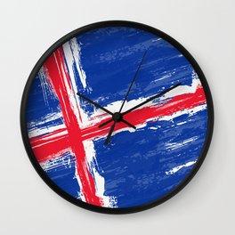 Iceland's Flag Design Wall Clock