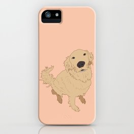 Golden Retriever Love Dog Illustrated Print iPhone Case