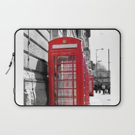 """""""Classic Britain"""" Telephone Booths Laptop Sleeve"""