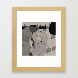They're coming to get you, Barbara... Framed Art Print