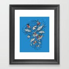 Malibu Beach Sharnado Massacre  Framed Art Print