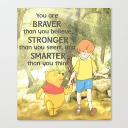 Christopher and Pooh Bear Canvas Print