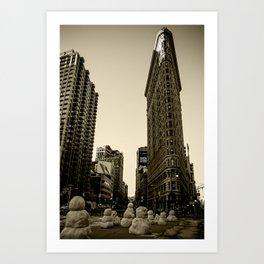 Flatiron Building - Sepia Art Print