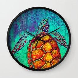 Swim in Eternal Seas Wall Clock