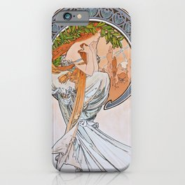 Alfons Mucha - For Art, Painting - Digital Remastered Edition iPhone Case