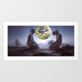 The World is in Our Hands Art Print