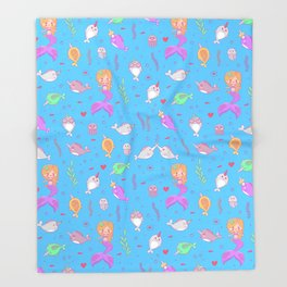 Narwhal and friends Throw Blanket