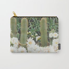 Cactus and Flowers Carry-All Pouch