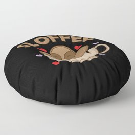 """Sloth and coffee """"Sloffee"""" Floor Pillow"""
