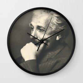 Albert Einstein rare photo Wall Clock