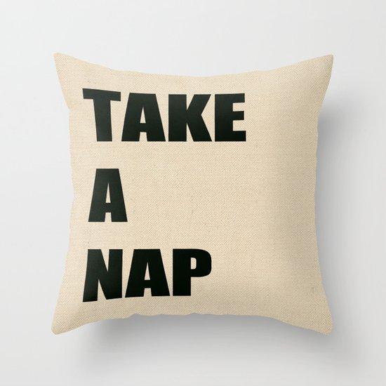 Take A Nap Throw Pillow