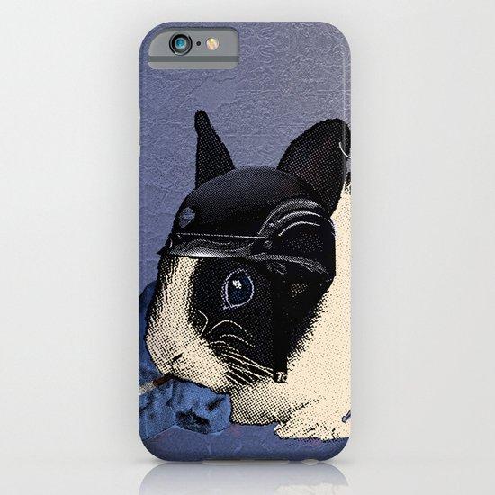 Blue Biker Bunny Print iPhone & iPod Case