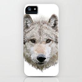 Grey Wolf iPhone Case