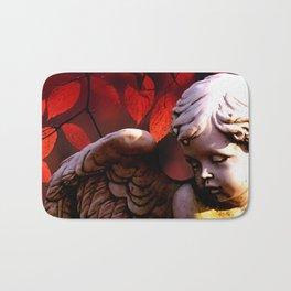 Little Angel Cherub Child Autumn Tree Spiritual A317 Bath Mat