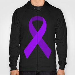 Purple Awareness Support Ribbon Hoody