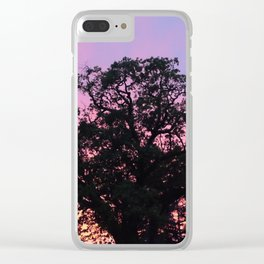 Sunset Over Napa Clear iPhone Case