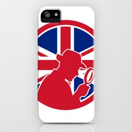 British Private Investigator Union Jack Flag Icon iPhone Case