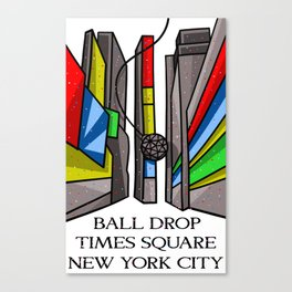 Ball Drop Times Square Canvas Print
