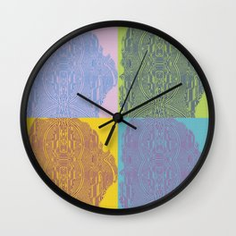 Pop Art Fingerprint Maze Abstract Wall Clock
