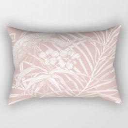 TROPIC ORCHID Blush Rectangular Pillow
