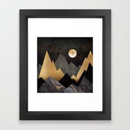 Metallic Night Framed Art Print