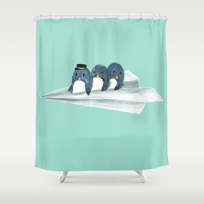 Let's travel the world Shower Curtain