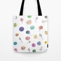 plane Tote Bags featuring Plane by Infra_milk