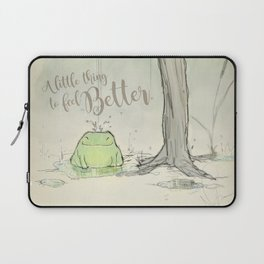 The frog under the rain 2 Laptop Sleeve