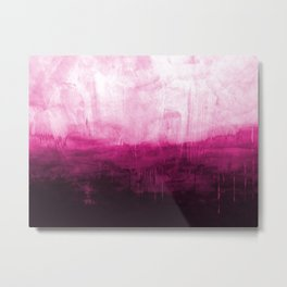 Paint 7 pink abstract painting ocean sea minimal modern bright colorful dorm college urban flat Metal Print