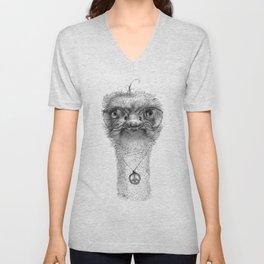Hippie Ostrich G098 Unisex V-Neck