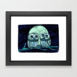 Northern Saw-whet Owls Framed Art Print
