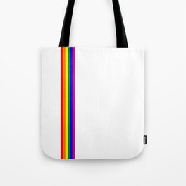 gay flag on white background Tote Bag