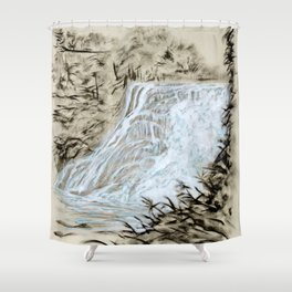 Local Gem # 6 - Ithaca Falls Shower Curtain