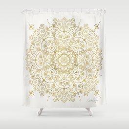 Moroccan Mandala – Gold Palette Shower Curtain