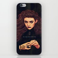 lorde iPhone & iPod Skins featuring The Fire's Found A Home In Me by Helen Green