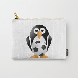 Funny penguin with a soccer ball Carry-All Pouch