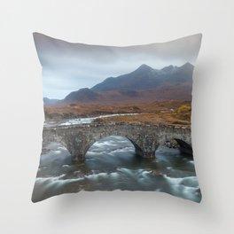 Sligachan Old Bridge Throw Pillow