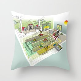 Agrarian Throw Pillow