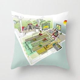 Agrarian Throw Pillow