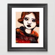 Charcoal V Framed Art Print