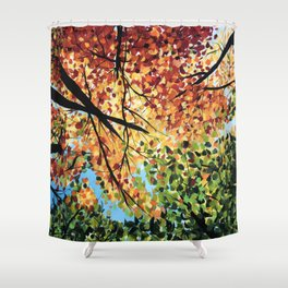 Lazy Fall days Shower Curtain