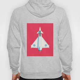 Eurofighter Typhoon Jet Fighter Aircraft - Crimson Hoody