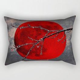 Modern Blood Red Moon Rain Gothic Decor A175 Rectangular Pillow